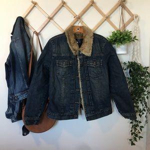 GAP   Denim Fur Jacket